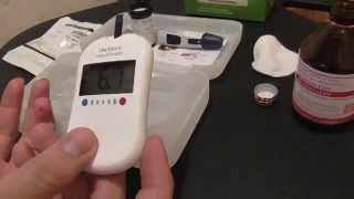 Измерение сахара в крови прибором One Touch