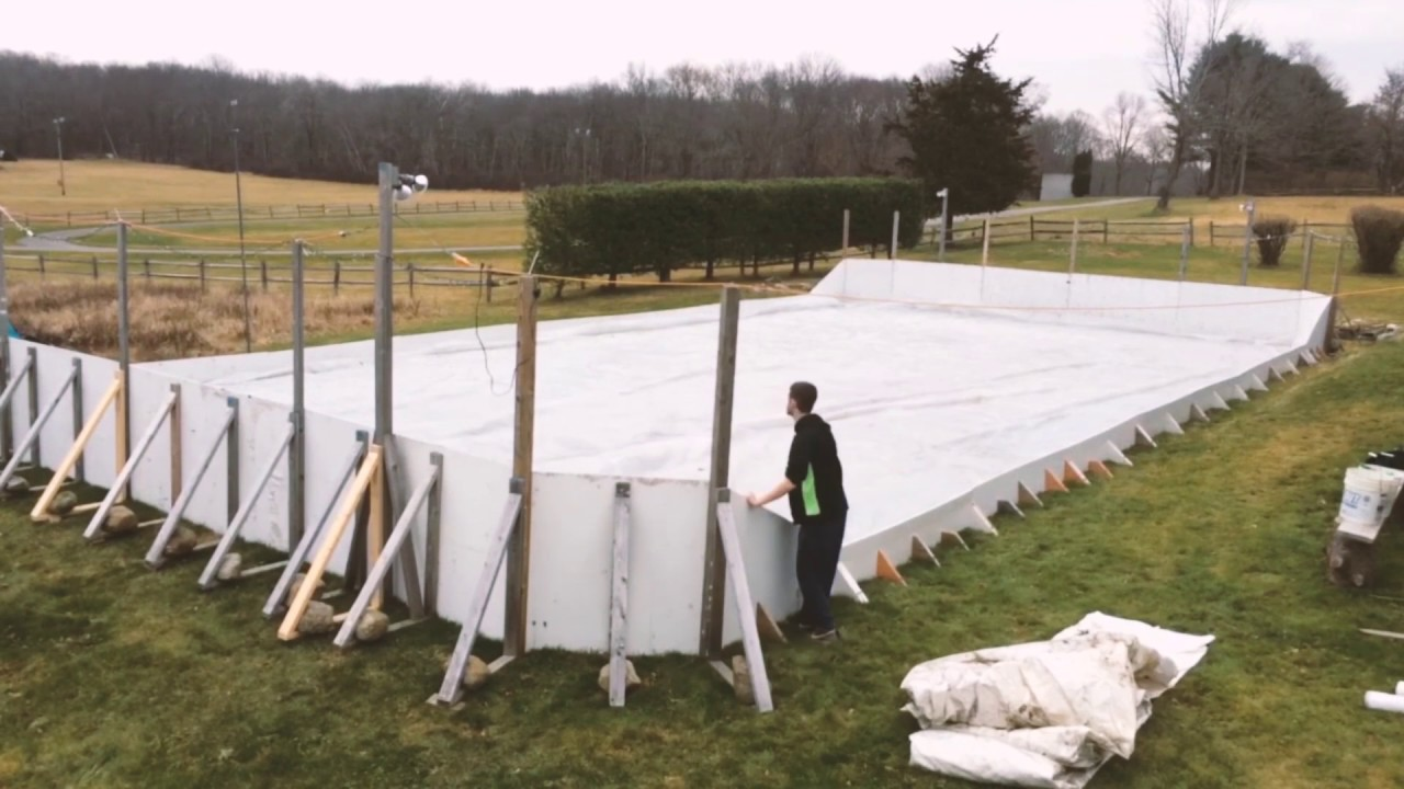 Backyard Ice Rink Plastic Liner