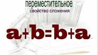 """видео урок математика 5 класс: """"Буквенная запись свойств сложения и вычитания"""", ФГОС"""