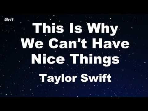This Is Why We Can't Have Nice Things - Taylor Swift Karaoke 【No Guide Melody】 Instrumental