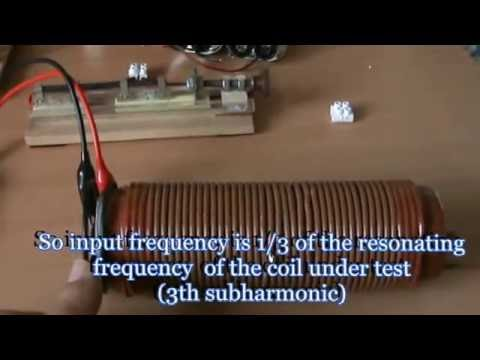 resonance frequency of a coil