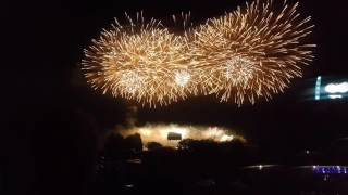 Wianki nad Wisłą 2016- Pokaz Fajerwerków