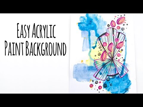 Easy Acrylic Paint Background Mixed Media Technique