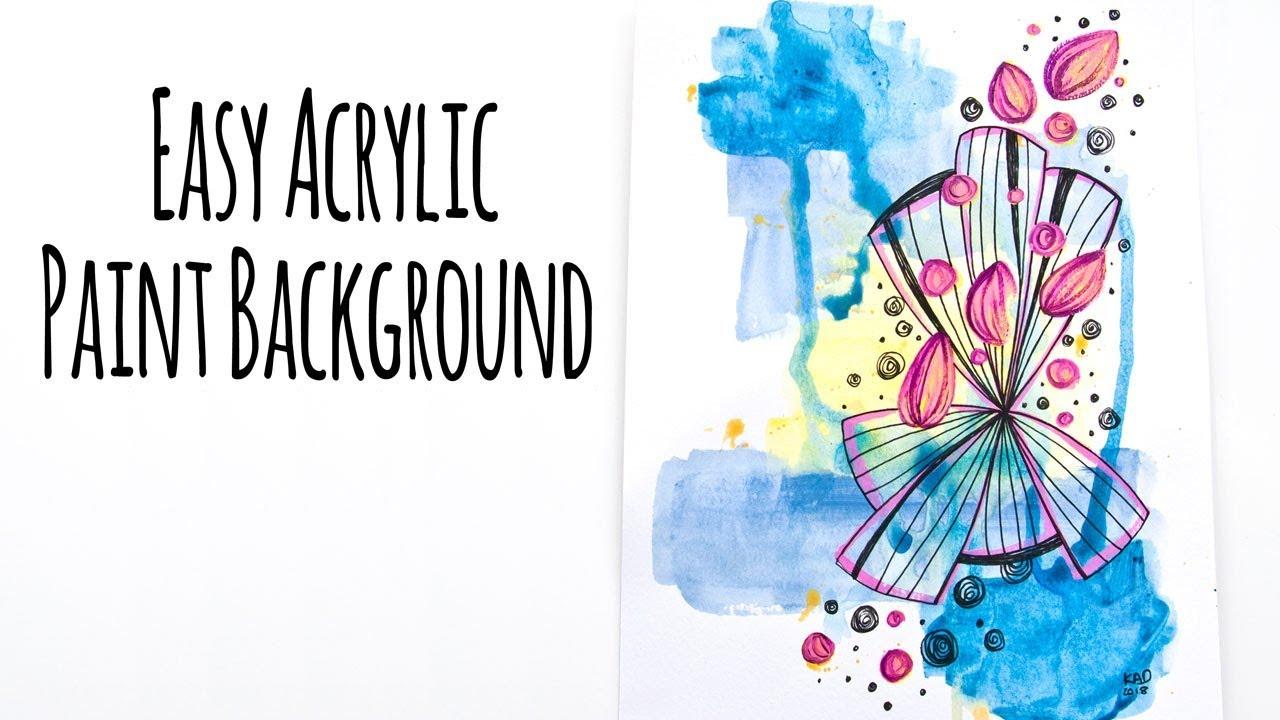 Easy Acrylic Paint Background Mixed Media Technique