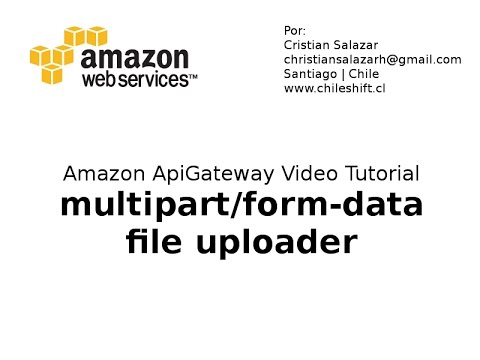 Amazon ApiGateway - Uploading Files  Multipart/form-data  (no audio)