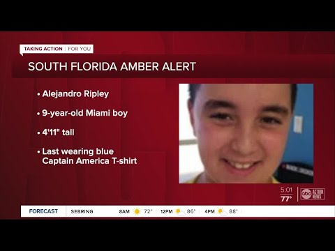 Amber Alert Issued For 9 Year Old South Florida Boy Who Was