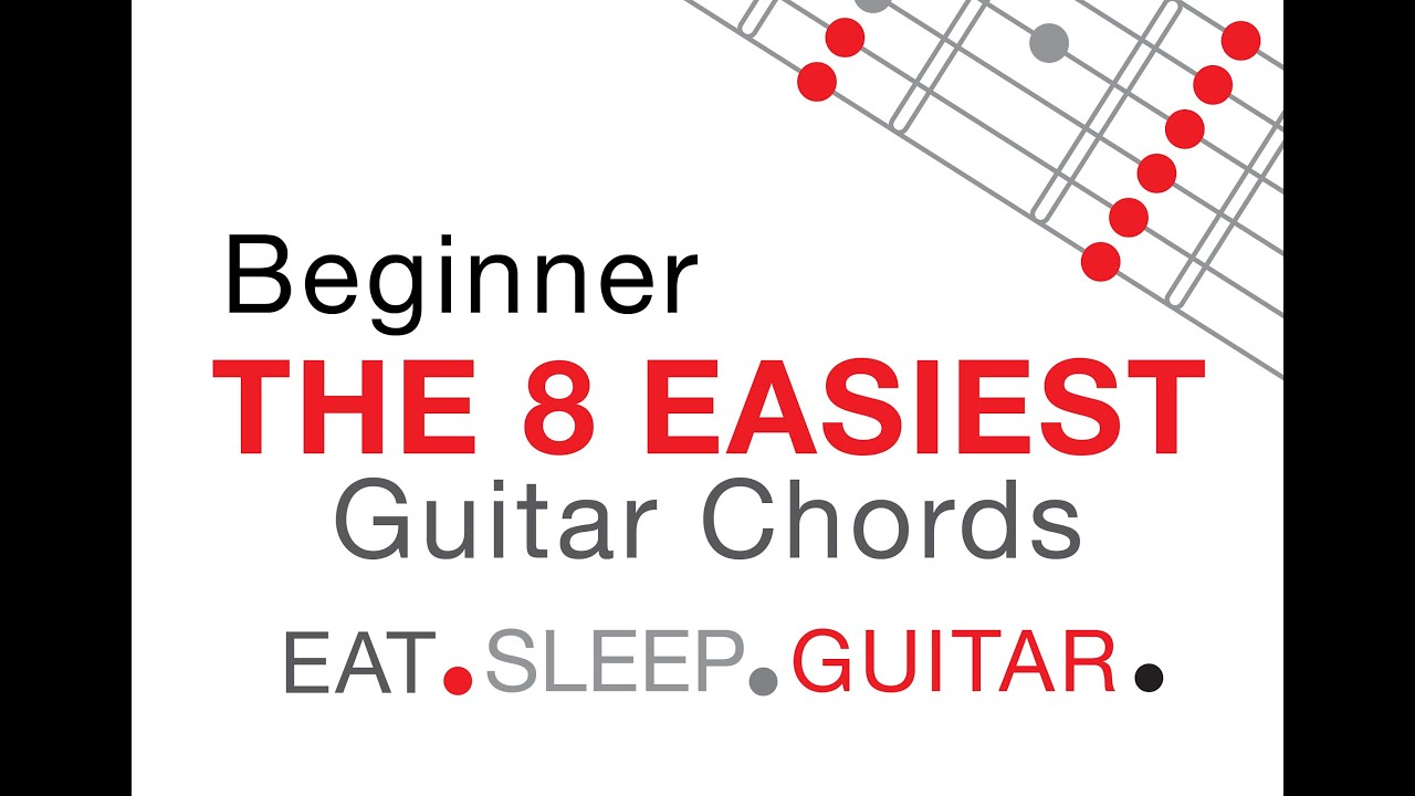 The 8 Easiest Guitar Chords For Beginners In 40 Seconds Youtube