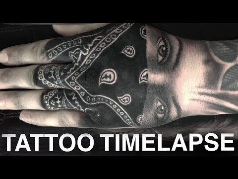 dae09ce55db57 TATTOO TIME LAPSE | GANGSTER GIRL ON HAND | CHRISSY LEE - YouTube