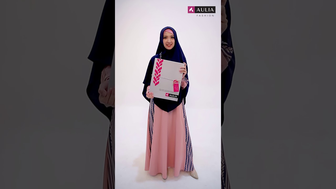 Set Gamis Syar'i Mafaza Impatients Pink By AULIA FASHION terbaru 2020