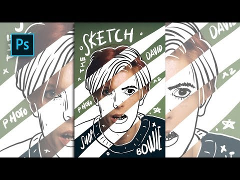How to Create Sketch & Doodle Portrait Effect in Photoshop - #Photoshop Tutorials thumbnail