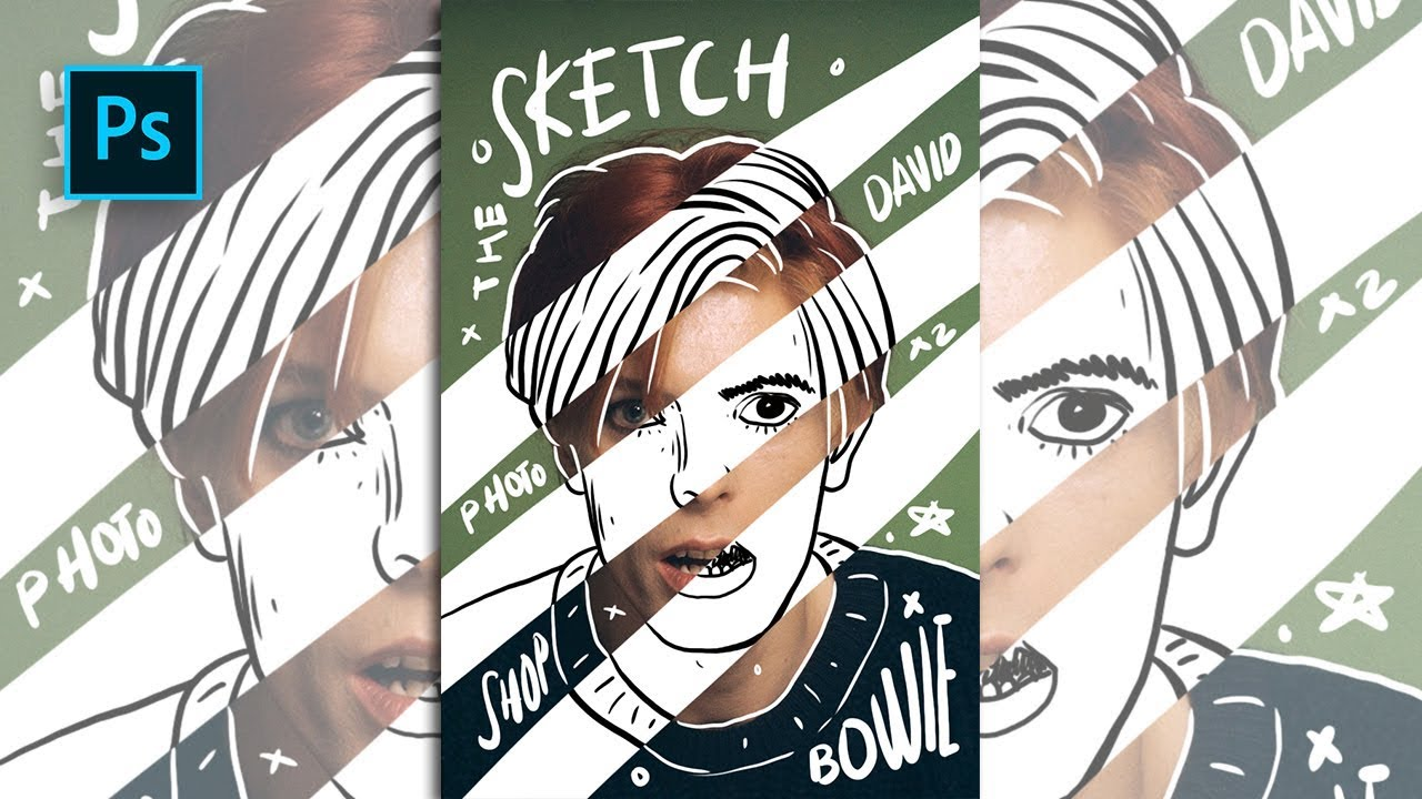 How to create sketch doodle portrait effect in photoshop photoshop tutorials