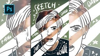 How to Create Sketch & Doodle Portrait Effect in Photoshop - #Photoshop Tutorials