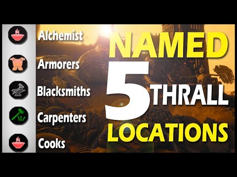 5 NAMED THRALL LOCATIONS - Conan Exiles