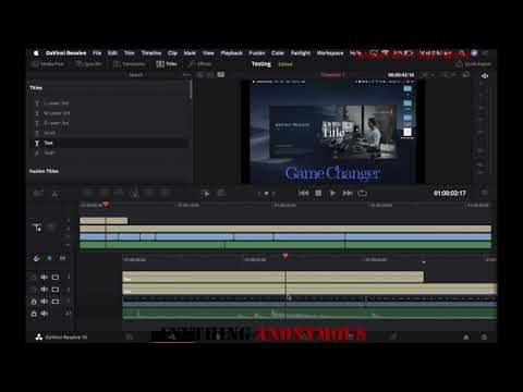 How to make a project on DaVinci Resolve and Save it as video file. (AnyThing Anonymous)