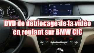 DVD de déblocage de la vidéo en roulant BMW iDrive CIC et NBT - TV FREE - Vidéo in motion