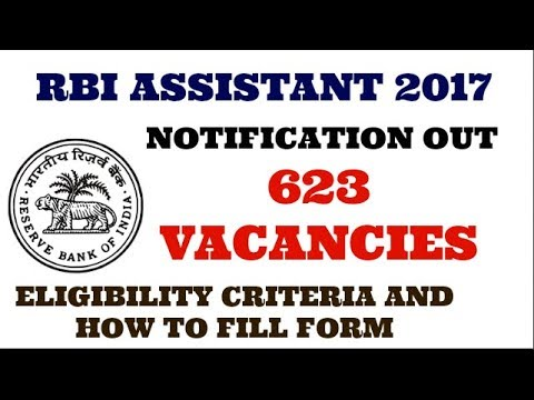 RBI ASSISTANT 2017 NOTIFICATION OUT || ELIGIBILITY CRITERIA | HOW TO APPLY || THINGS TO KEEP IN MIND