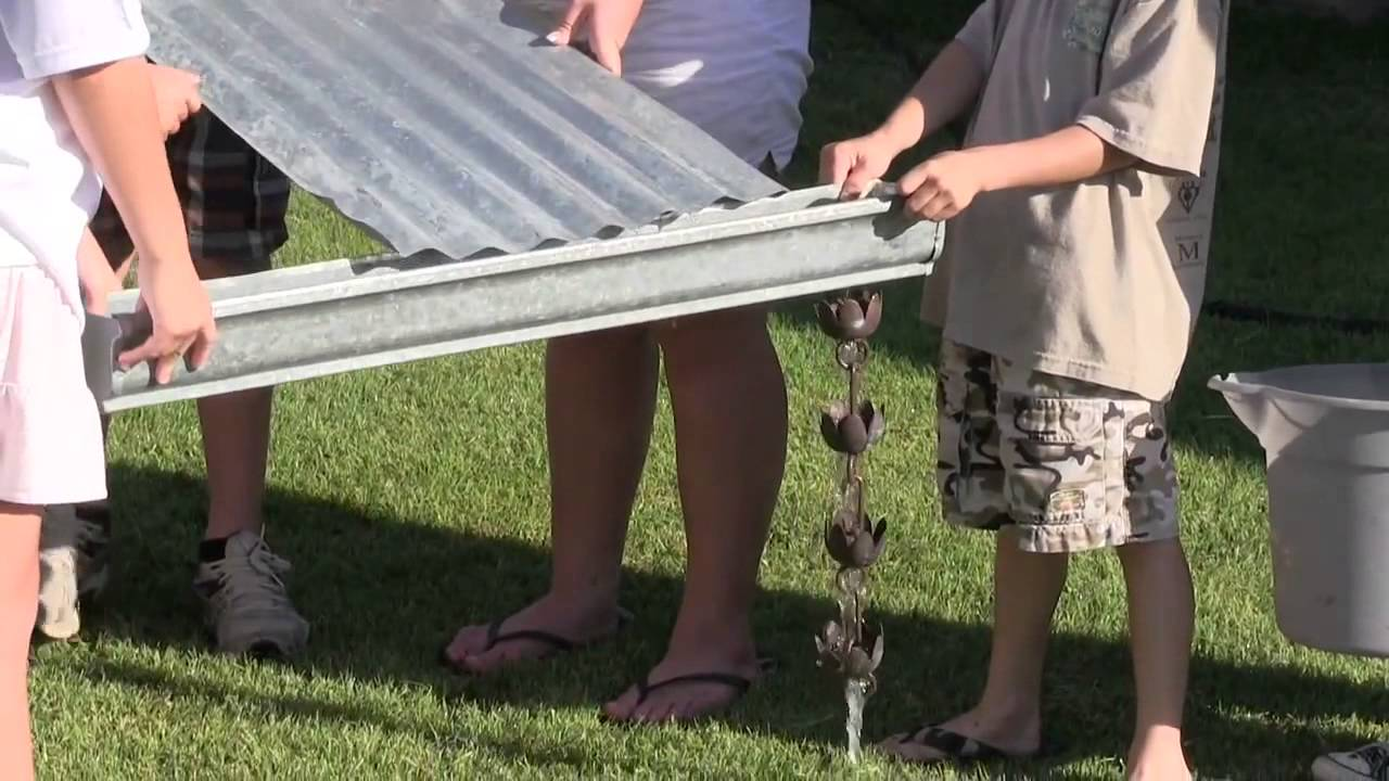 Corrugated Roof And Gutter Youtube