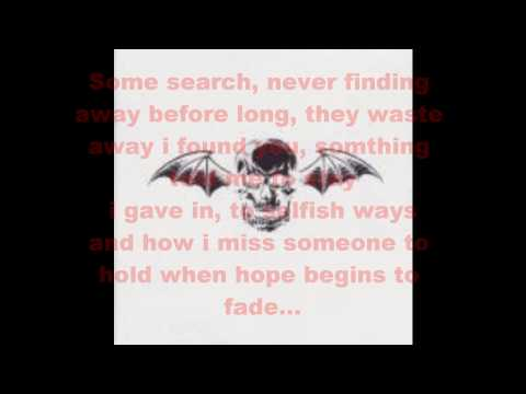 Avenged Seven Fold: Dear God (Lyrics)