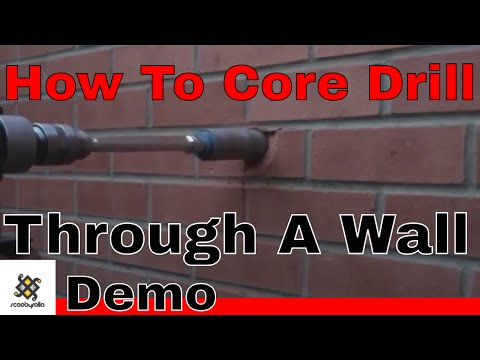 How To Use A Diamond Core Drill & Drill Through A Wall & Demo