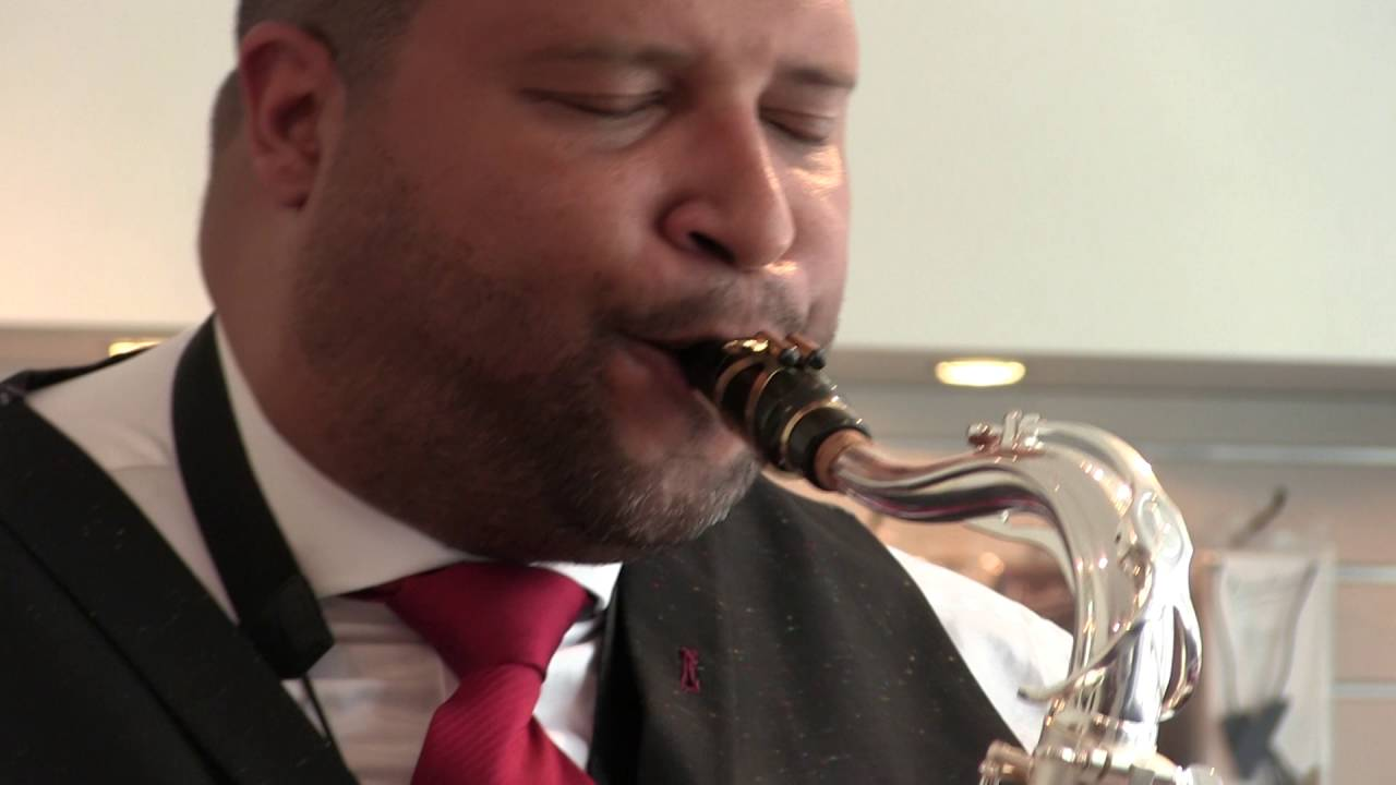 Jimmy Greene (on Tenor) visiting the Vandoren advisory studio in NYC