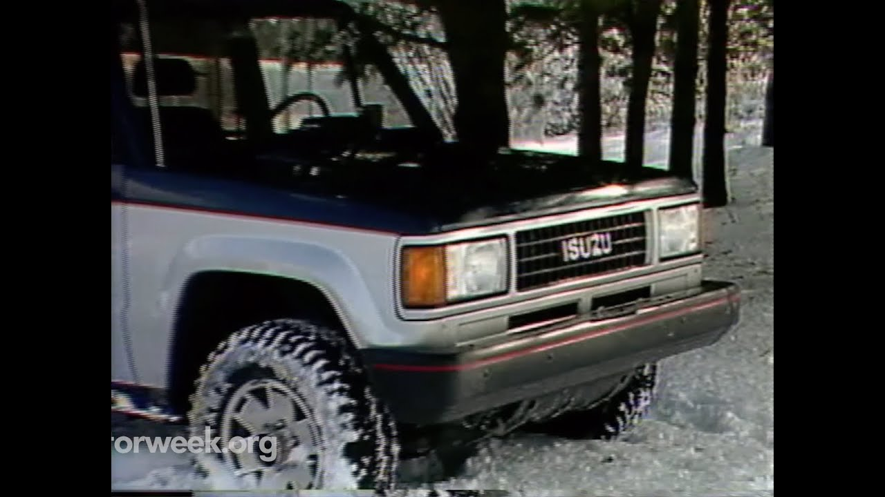 motorweek | retro review: '88 isuzu trooper ii - youtube