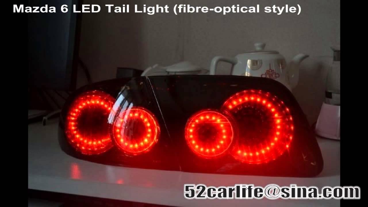 Mazda Speed 3 >> mazda6 mazdaspeed 4 fibre optical LED tail lights - YouTube