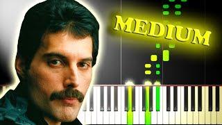 QUEEN - DON'T STOP ME NOW - Medium Piano Tutorial