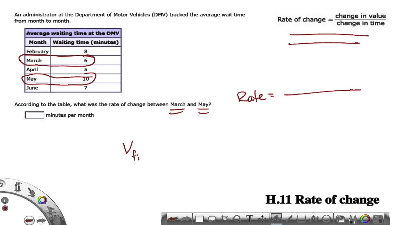 IXL Grade 8 H.11 Rate of Change Examples - YouTube