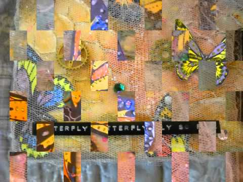 """""""Butterfly, butterfly fly so free"""" Art Canvas  Mixed Media"""