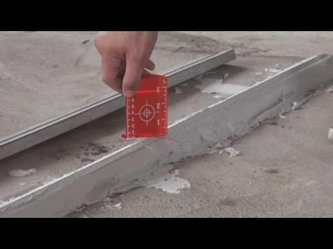 Как сделать стяжку пола. Используем лазерный уровень ADA CUBE 360