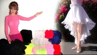 Модные асимметричные юбки, обзор дизайнов. Ameynra fashion by Sofia