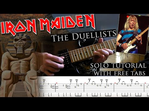 Iron Maiden - The Duellists Dave Murray's solo lesson (with tablatures and backing tracks)