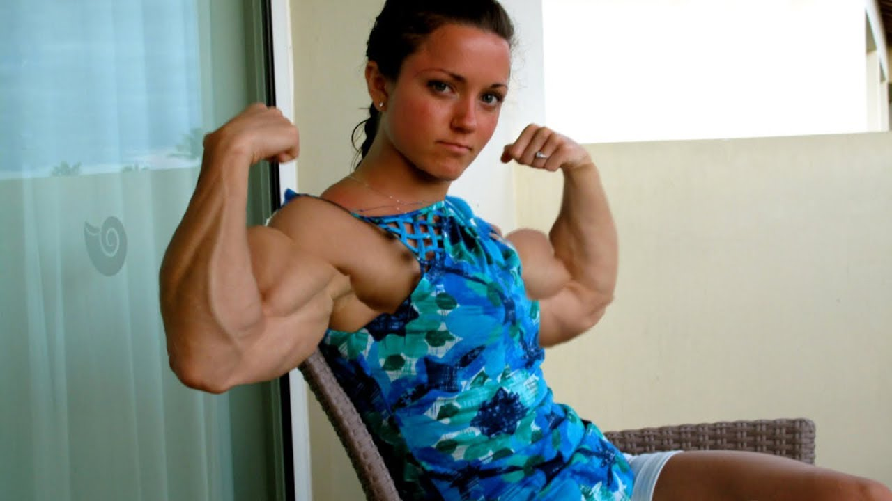 Muscular Girls Show Their Biceps