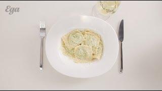 Равиоли со шпинатом и  рикоттой. Подробный рецепт