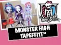 MONSTER HIGH TAPEFFITI FASHION DESIGN DRESS KIT REVIEW