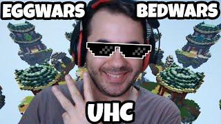 RAKİP ŞAŞIRTAN TAKTİK! 3 KRAL OYUN 1 VİDEODA | Minecraft (Egg Wars, Bed Wars, UHC)