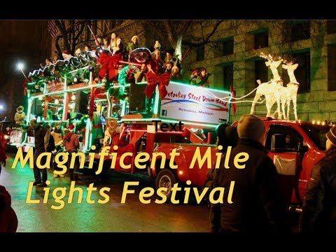 Magnificent Mile Light Festival in Chicago