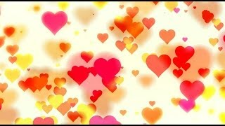 Romantic love hearts blured - HD animated background #42