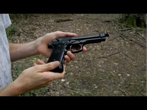 KJW M9 full metal CO2 blowback review and shooting