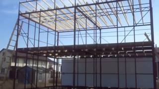 Строим дом  на металлокаркасе