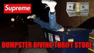 Dumpster Diving Thrift Store With My Mom - Found Money and Supreme at Thrift Store!