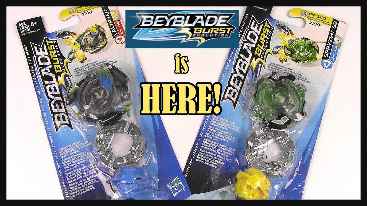 beyblade burst evolution is here new valtryek v2 spryzen s2 unboxing youtube. Black Bedroom Furniture Sets. Home Design Ideas