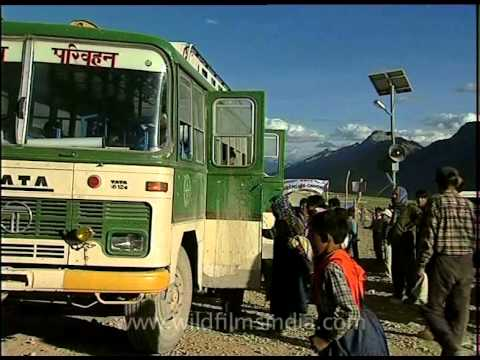 Himachal road transport corporation bus for the Kalachakra devotees