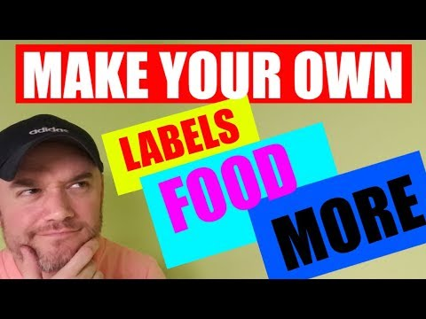 How to make a label with Barcode nutritional and allergen warning label all in one