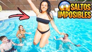 SALTOS IMPOSIBLES EN LA PISCINA !! *el nerd vs su crush*