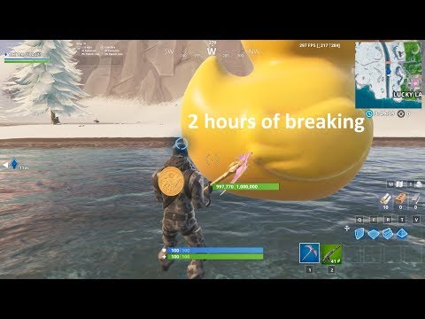 Breaking The 1,000,000hp Rubber Duck In Fortnite (about 2 Hours)