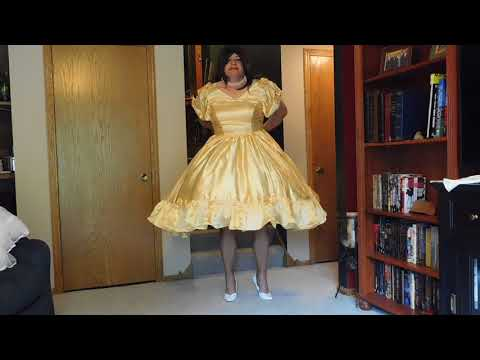 Gold Dress Strip to Slip