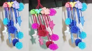 DIY Wind Chime || Wall Hanging Using Woolen || How to Make Wind Chimes With Bangles And Woolen