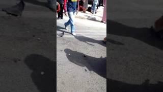 حافلة الكرامة تستضم مع سيارة أجرا صغيرة 23/07/2017 oulad oujih kénitra