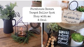 Target Dollar Spot Shop With Me And Haul || Farmhouse Style Decor